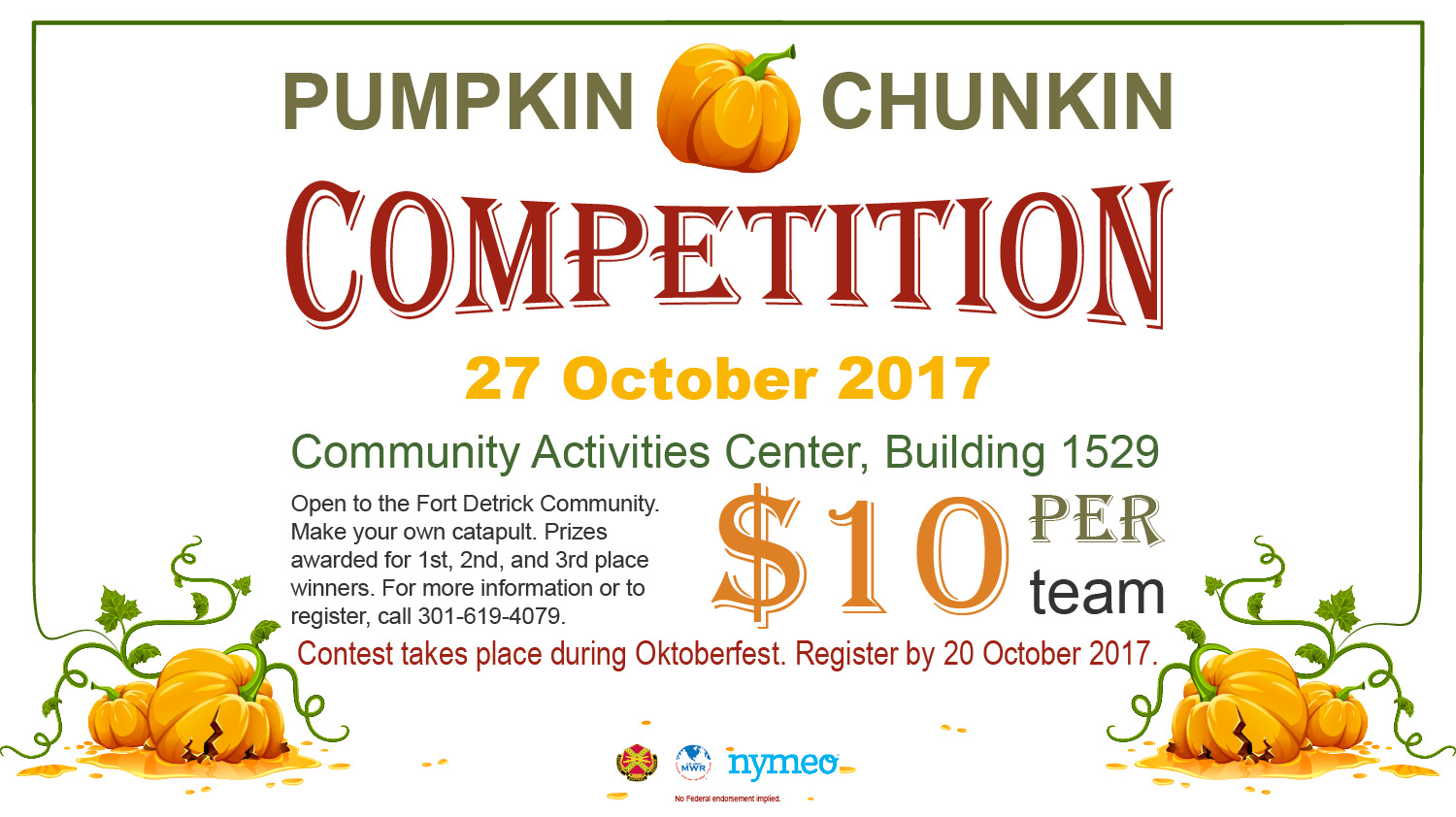 PUMPKIN CHUNKIN COMPETITION