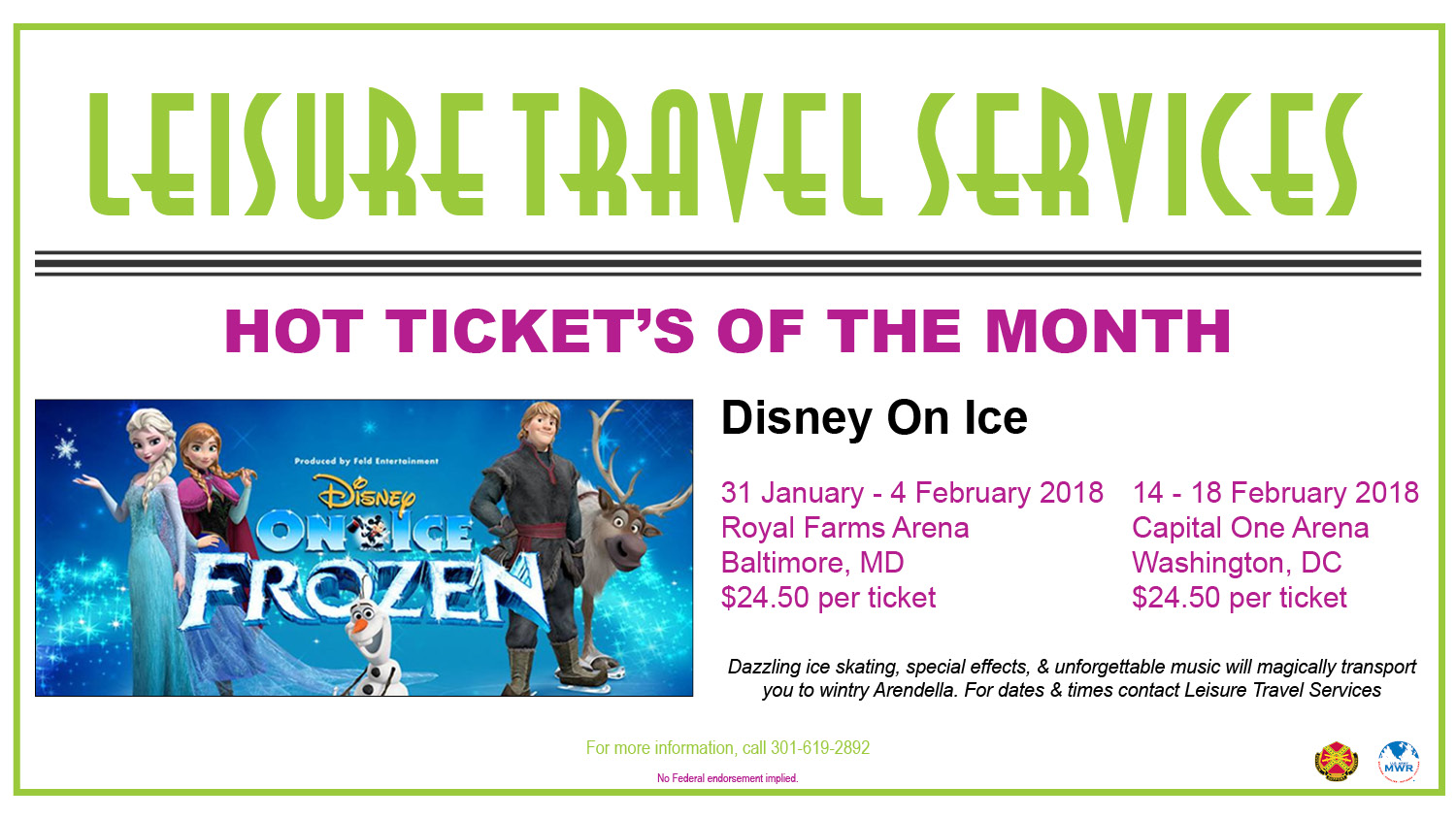 HOT TICKET'S OF THE MONTH